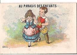 CHROMO PETIT FORMAT AU PARADIS DES ENFANTS A PARIS LITHO LAAS - Other