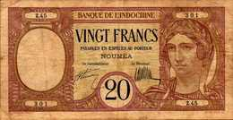 NOUVELLE CALEDONIE NOUMEA 20 FRANCS De1929nd  Pick 37a - France