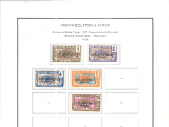 Francia Colonie  A E F 1936 Scott. Nuovi Usati See Scan - A.E.F. (1936-1958)