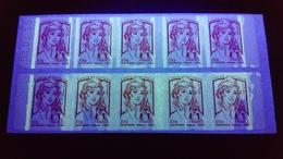 Carnet Sagem Daté 08.01.15  Marianne De Ciappa  20g. Variété Maculé De Phospho - Carnets