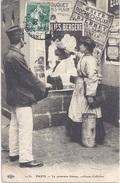 75  Petits Métiers - Première Femme Colleuse D'Affiches - Carte Ayant Circulé En 1908 - Editeur ELD - Straßenhandel Und Kleingewerbe