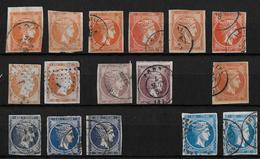 1861-86 Hermes, Gross → GREECE LARGE HERMES HEAD 10, 20, 40 L USED - 1861-86 Grands Hermes