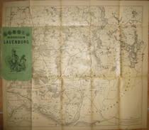 Herzogthum Lauenburg Ca. 1900 - Maßstab 1:92'000 - 50cm X 57cm - Verlag Charles Fuchs Lith. Inst. Hambburg - Topographische Karten