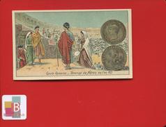 Jolie Chromo Pièces De Monnaie Numismatique GAULE ROMAINE BRONZE NERON ARENE - Cromos