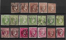 1861-86 Hermes, Gross → GREECE LARGE HERMES HEAD 1, 5, 20, 80 L USED - 1861-86 Grands Hermes
