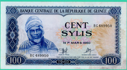 100 Sylis - Guinée - N° BG489950 - 1 Mars 1960 - TTB +  - - Guinée