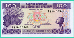 100 Francs  - Guinée - N° AS8400549 - 1 Mars 1960 - Neuf - - Guinea