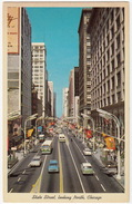 Chicago: CHEVROLET WAGON, OLDTIMER CARS, CAB & BUS/COACH - State Street Looking North -  (Il., USA) - Turismo
