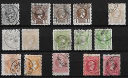 1886-1901 Hermes, Klein → GREECE SMALL HERMES HEAD 1, 2, 5, 10, 20 L USED - Oblitérés