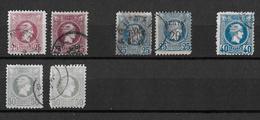 1886-1901 Hermes, Klein → GREECE SMALL HERMES HEAD 25, 40 50 L USED - Oblitérés
