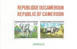 1991 Cameroun Elephant Buffalo Souvenir Sheet Complete Set Of 1 MNH - Kameroen (1960-...)