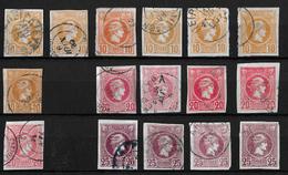 1886-1901 Hermes, Klein → GREECE SMALL HERMES HEAD 10, 20, 25 L USED - Oblitérés