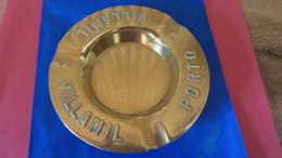 Cendrier En Laiton Pub Années 50/60 PORTO Ancien VILLAMIL Diam 13cm - Asbakken