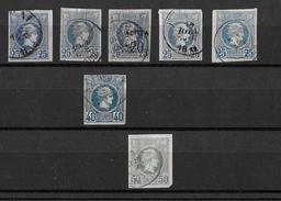1886-1901 Hermes, Klein → GREECE SMALL HERMES HEAD 25, 40, 50 L USED - Oblitérés