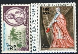 Reunion 1969 - 74 N. 387 E N. 423 Personaggi Storici, Napoleone E Richelieu MNH Cat. € 4.60 - Isola Di Rèunion (1852-1975)