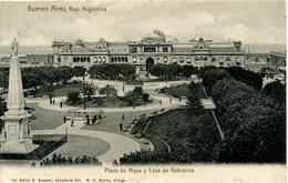 ARGENTINA - BUENOS AIRES - PLAZA DE MAYO Y CASA DE GOBIERNO 1905 Arg167 - Argentina