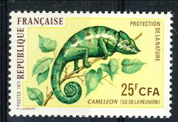 Reunion 1971 N. 399 Camaleonte MNH Cat. € 1.60 - Isola Di Rèunion (1852-1975)
