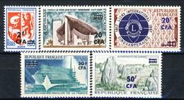 Reunion 1967 - 68 Serie N. 373-377 MNH Cat. € 10.50 - Isola Di Rèunion (1852-1975)