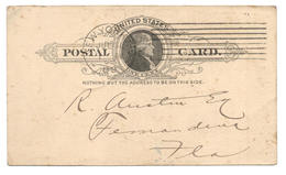 GS New York 1889 Nach Fernandina Beach, Florida - Interi Postali