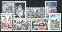 Reunion 1964 - 1073 Gli Otto Valori Della Serie Turistica CFA - MNH Cat. € 12.60 - Isola Di Rèunion (1852-1975)