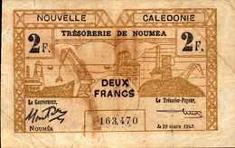 NOUVELLE CALEDONIE NOUMEA 2 FRANCS Du 20-3-1943Pick 56b - Unclassified