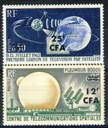 Reunion 1963 Serie N. 355-356 Telecomunicazioni Spaziali MNH Cat € 2.40 - Isola Di Rèunion (1852-1975)