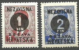 CROACIA 1941 Mi:HR 41/42, AFA:HR 24/25 ** MNH - Croatia