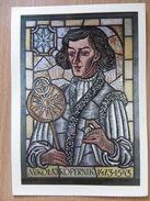 Astronomer M Kopernik  / Stained Glass / Vitrail  / Globe  Jagiellonian University Cracow Poland / Author W Chomicz - Museum