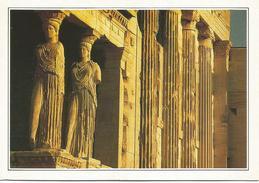 T2105 Grecia - Atene - Le Cariatidi Dell'Acropoli - Cartolina Con Legenda Descrittiva / Non Viaggiata - Europe