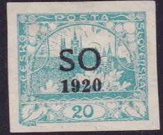"""Eastern Silesia """"S.O.1920"""" Sc 5 Mint Hinged - Tchécoslovaquie"""
