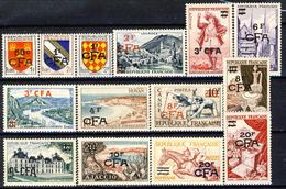 Reunion 1953 - 54 Serie 307-319 MNH Cat. € 215 - Isola Di Rèunion (1852-1975)