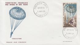 Enveloppe  FDC  1er  Jour  TERRITOIRE  FRANCAIS   Des   AFARS  Et  ISSAS    Parachutisme   1968