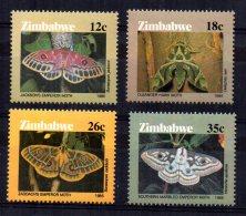 Zimbabwe - 1986 - Moths - MNH - Zimbabwe (1980-...)