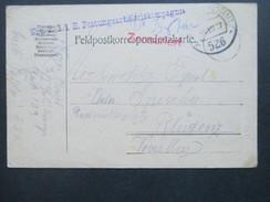 Österreich Feldpost 1917 K.u.K. 3/1 Festungsartilleriekompagnie. Feldpostamt 526. Zensuriert - Briefe U. Dokumente