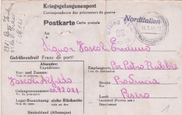 Prisoner Of War From Italian POW In Germany, Stalag VI A Located In Hemer - Card Posted 14.3.1944 To Pesero. Bowed(T6-25 - Militaria