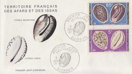 Enveloppe  FDC  1er  Jour  TERRITOIRE  FRANCAIS   Des   AFARS  Et  ISSAS     COQUILLAGES  1977