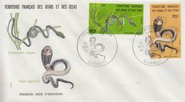 Enveloppe  FDC  1er  Jour  TERRITOIRE  FRANCAIS   Des   AFARS  Et  ISSAS   Serpents   1976