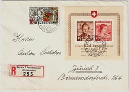 1941, Block 6 Auf Brief, SBK Fr. 650.-, Luxus! Nur 15 % !, #7128 - Schweiz
