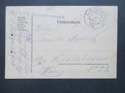 Österreich Feldpost 1. WK 1917 K.u.K. 1/8 Sappeurkompagnie. Feldpostamt 608 - 1850-1918 Imperium