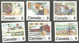 Sc. # 634-39 Letter Carrier Service Set Used 1974 K1100 - 1952-.... Règne D'Elizabeth II