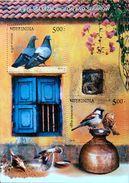 INDIA 2010 Birds Pigeon Sparrow M/S 10nos. MINIATURE SHEETS MNH