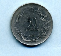 1971 50 KURUS - Turquie