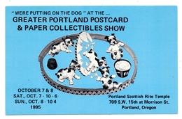 Greater Portland Postcard Show & Paper Collectibles Show, 1995, Puppies - Sammlerbörsen & Sammlerausstellungen
