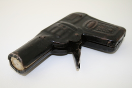 Vintage TOY GUN : JAPAN - L=10cm - 1940s-50s - Keywords : Cap Gun - Cork Gun - Rifle - Revolver - Pistol - Tin - Armes Neutralisées