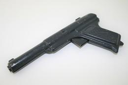 Vintage TOY GUN : MONTY Made In Belgium - L=20cm - 1940s - Keywords : Cap - Cork Gun - Rifle - Revolver - Pistol - Tin - Armes Neutralisées