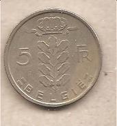 Belgio - Moneta Circolata Da 5 Franchi - 1973 - 1951-1993: Baldovino I