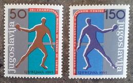YOUGOSLAVIE - YT N°1003, 1004 - Tennis De Table / Sports - 1965 - Neufs - Ungebraucht
