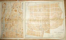 Paris Innere Stadt Rechtes Ufer - Ostfriedhof Pere-Lachaise - Grieben-Verlag Goldschmidt Berlin - Topographische Karten