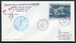 1985 T.A.A.F. Marion Dufresne Signed Ship Cover - French Southern And Antarctic Territories (TAAF)