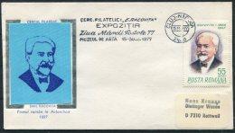 1977 Romania Cluj Emil Racovita Antarctic Explorer Cover - Polar Explorers & Famous People